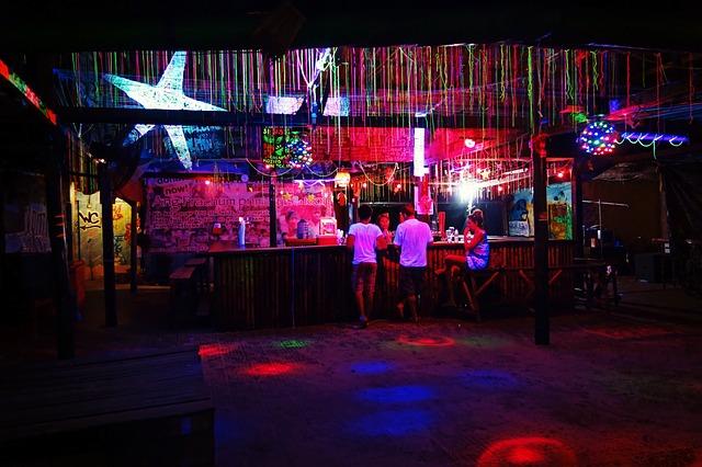 Osvětlený bar
