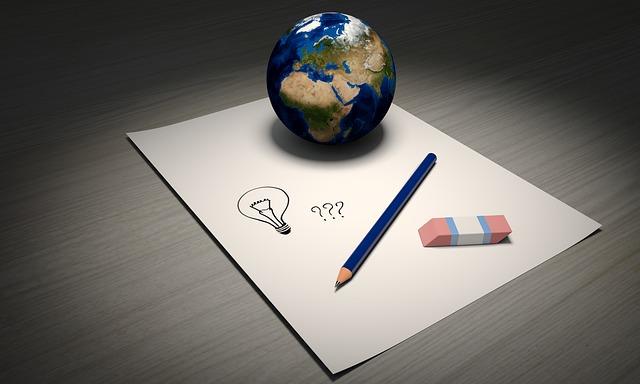 zeměkoule na papíře