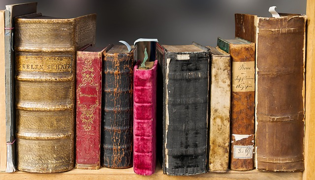 hodně staré knihy