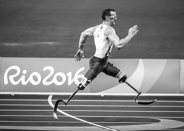 běh s protézou